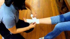 Принципы оказания первой помощи при ранении ноги